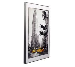 MAN IN NY Image 50X70 Noir/Blanc/Jaune