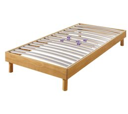 Sommiers - Sommier 90 x 190 cm QUITUS PIN NATUREL