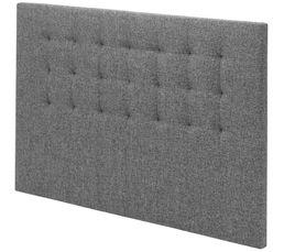 SIGNATURE Tête de lit tissu gris 150 cm CHARME