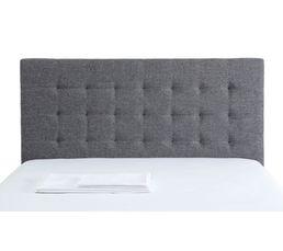 Tête de lit tissu gris 150 cm SIGNATURE CHARME
