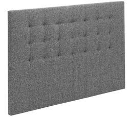 Tête de lit tissu gris 190 cm SIGNATURE CHARME