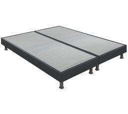 Sommier PU gris 2x90x200 cm DREAMEA DECO