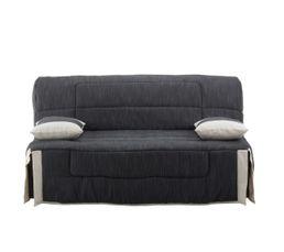 housses housse bz 160 cm tissu sisa gris ecru. Black Bedroom Furniture Sets. Home Design Ideas