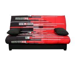 housse clic clac 140 cm tissu travelling uni noir. Black Bedroom Furniture Sets. Home Design Ideas
