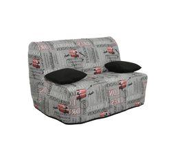 motif de la housse imprim city housse de canap but. Black Bedroom Furniture Sets. Home Design Ideas