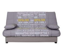 Banquette-lit clic-clac DUNLOPILLO EIGHTIES Tissu imprim� Central Park