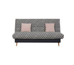 banquette lit clic clac daviana imprim hexagone gris. Black Bedroom Furniture Sets. Home Design Ideas