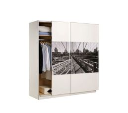 Dressings - Rangement 2P coulissantes NEW YORK 400020 Blanc