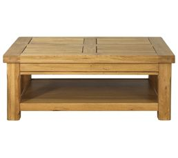 TABLE BASSE RECT CHENE ARTISAN 0701TABA  Tables Basses BUT -> Table Basse But