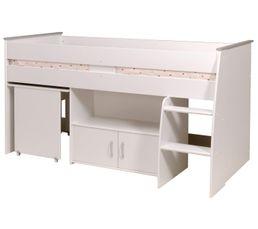 Lit combiné 90x200 cm LOAN Blanc