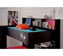 Lits superposés 2x90x200 cm CLEO Noir