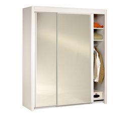 Armoires - Armoire  L.181 cm CARLA 2 4973R181 Blanc