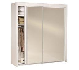 armoire l 203 cm carla 2 4973r201 blanc pas cher avis. Black Bedroom Furniture Sets. Home Design Ideas