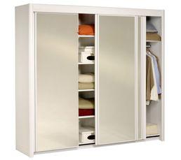 Armoires - Armoire  L. 233 cm CARLA 2 4973R231 Blanc