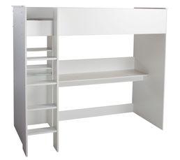 Lits Superposés Et Mezzanines - Lit mezzanine 90X200 cm SWAN blanc