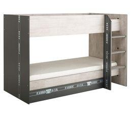 achat lits superpos s 90x190 cm jordan 5 coloris blanc conforama acheter moins cher lits. Black Bedroom Furniture Sets. Home Design Ideas
