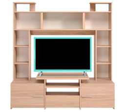 Meubles Tv - Meuble TV FORUM 9837PATV Chêne Dakota