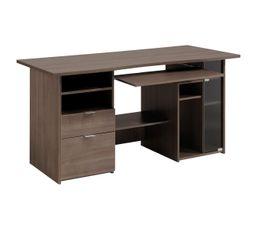 couleur bois fonce meuble bureau et ordinateur pas cher. Black Bedroom Furniture Sets. Home Design Ideas