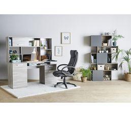 bureau droit minister imitation ch ne gris bureaux but. Black Bedroom Furniture Sets. Home Design Ideas