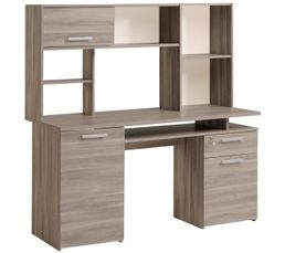 bureau avec surmeuble conceptions de maison. Black Bedroom Furniture Sets. Home Design Ideas