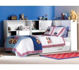 Environnement avec rangement pour lit  SNOOP blanc