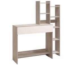 Tables D'appoint Et Consoles - Console YUKA Blanc et chêne grisé