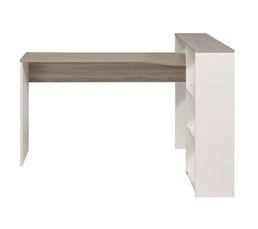 bureau d 39 angle delta blanc et ch ne bureaux but. Black Bedroom Furniture Sets. Home Design Ideas