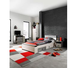 lit 90x190 cm hipster imitation fr ne b ton lits but. Black Bedroom Furniture Sets. Home Design Ideas