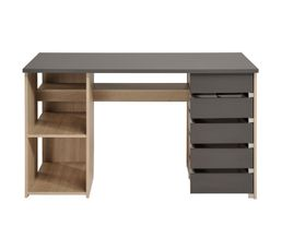 bureau diy kreatif gris et ch ne bureaux but. Black Bedroom Furniture Sets. Home Design Ideas