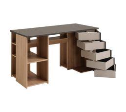 Bureau atelier DIY KREATIF Gris et chêne