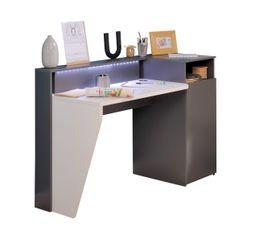 Type de bureau bureau droit meuble bureau et for Bureau blanc et gris