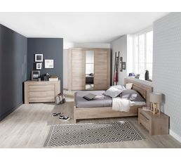 Lit 140x190 cm sarlat lits but for Chambre adulte complete lit 140x190