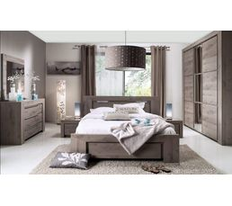 Idees d Chambre chambre adulte but : Lit 160x200 cm SARLAT H32.106 - Lits BUT