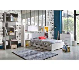 lit 90 x 190 cm jeko 1 g55 100 blanc lits but. Black Bedroom Furniture Sets. Home Design Ideas