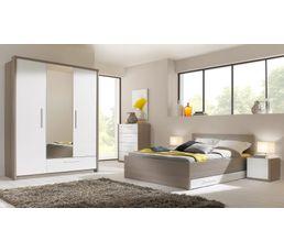 Tête de lit cosy  pour lit 140 FARO 1 H84 013 imitation frêne gris