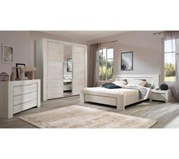 armoire 3 portes sarlat blanchi armoires but. Black Bedroom Furniture Sets. Home Design Ideas
