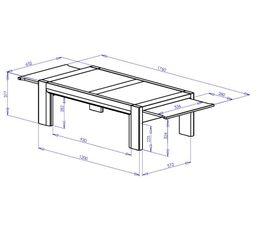 Table basse SANDRO Chêne/marbre gris