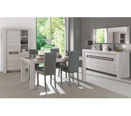 Table rectangulaire SANDRO Chêne/marbre gris