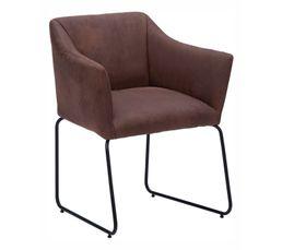 Chaises - Chaise EFFET Marron
