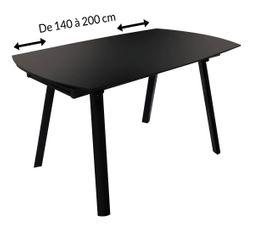 Tables - Table extensible OBLONG Noir