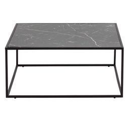 Table basse bau noir effet marbre tables basses but - Table basse effet marbre ...
