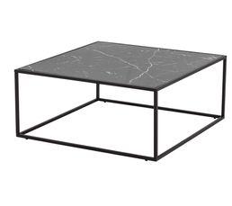 BAU Table basse fixe Noir/Effet marbre