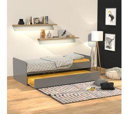 lit 90x190 pas cher lit adulte 90x190 pas cher quaidesaffaires lit gigogne romain 90x190. Black Bedroom Furniture Sets. Home Design Ideas