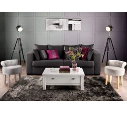 tapis 120 x 170 cm silky gris noir tapis but. Black Bedroom Furniture Sets. Home Design Ideas
