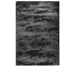 Tapis 120 x 170 cm SILKY Gris/Noir
