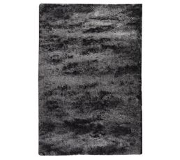 Tapis 160 x 230 cm SILKY Gris/Noir