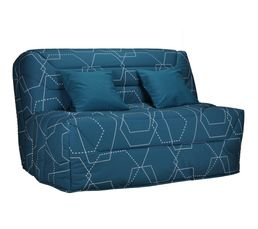 Housses - Housse BZ 160 cm Tissu Exagone Bleu B621/B622