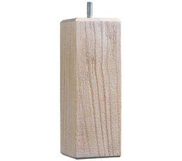 jeu de 4 pieds h 14 5 cm carre brosse blanc pieds but. Black Bedroom Furniture Sets. Home Design Ideas