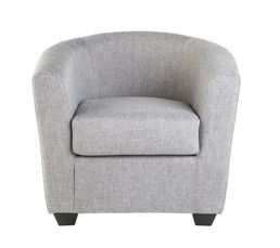 THEO Fauteuil Cabriolet Tissu Sawana Gris clair