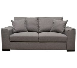 Canap 3 places june tissu sawana gris clair 21 canap s but - Canape tissu gris clair ...
